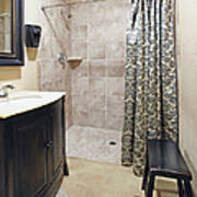 Changing Room And Shower Print by Skip Nall