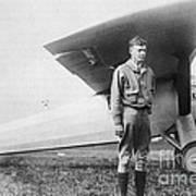 Charles Lindbergh American Aviator Print by Photo Researchers