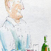 Chef In Action Print by Pat Katz