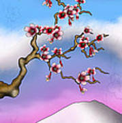 Cherry Blossoms Print by Anthony Citro