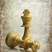 Chess Pieces Print by Bernard Jaubert