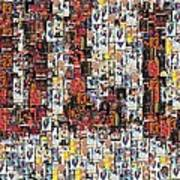 Chicago Bulls Michael Jordan Cards Mosaic Print by Paul Van Scott