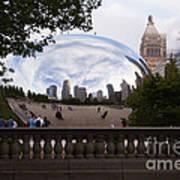 Chicago Cloud Gate Bean Sculpture Print by Paul Velgos