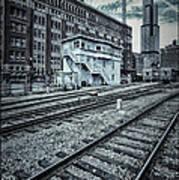 Chicago Rail Station Print by Donald Schwartz