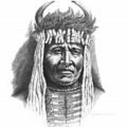 Chief Big Face Print by Lee Updike