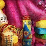 Children - Toy - Earliest Childhood Memories Print by Mike Savad