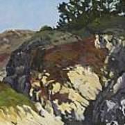 China Cove Cliffs Print by Marian Fortunati