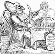 Cholera Doctor, Satirical Artwork Print by