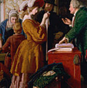 Choosing The Wedding Gown From Chapter 1 Of 'the Vicar Of Wakefield' Print by William Mulready