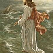 Christ Walking On The Waters Print by John Lawson