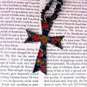 Christian  Cross Print by Cynthia Amaral