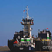 Christiana Oil Tanker Sitting In Galveston Tx Print by Susanne Van Hulst