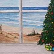 Christmas Window Print by Brad Hook