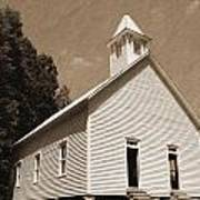 Church In The Mountains Print by Barry Jones