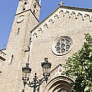 Church Parroquia De La Purissima Concepcio Barcelona Spain Print by Matthias Hauser