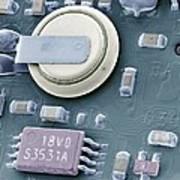 Circuit Board Battery, Sem Print by Steve Gschmeissner