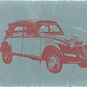 Citroen 2cv Print by Naxart Studio