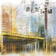 City-art Berlin Potsdamer Platz Print by Melanie Viola