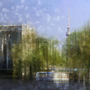 City-art Berlin River Spree Print by Melanie Viola