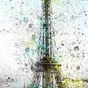 City-art Paris Eiffel Tower II Print by Melanie Viola