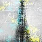 City-art Paris Eiffel Tower Letters Print by Melanie Viola