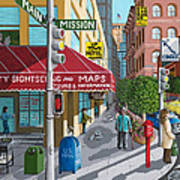 City Corner Print by Katherine Young-Beck