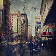 City Sidewalks Print by Laurie Search