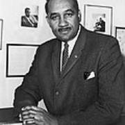 Clarence Mitchell, Jr., Head Print by Everett