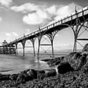 Clevedon Pier Print by Photographer Nick Measures