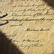 Close-up Of Emancipation Proclamation Print by Todd Gipstein