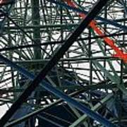 Close-up Of Ferris Wheel Mechanism Print by Todd Gipstein