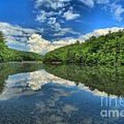 Clouds In The Lake Print by Adam Jewell