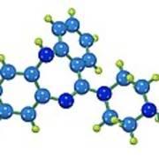 Clozapine Antipsychotic Drug Molecule Print by Dr Mark J. Winter