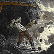 Coal Mine Explosion, 19th Century Print by Sheila Terry