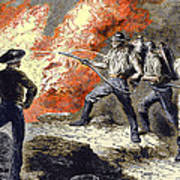 Coal Mine Fire, 19th Century Print by Sheila Terry