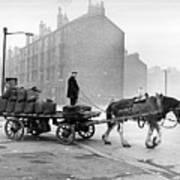 Coalman And Cart Print by Albert McCabe