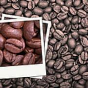 Coffee Beans Polaroid Print by Jane Rix