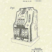 Coin Operated Casino Machine 1938 Patent Art Print by Prior Art Design