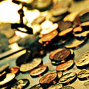 Coins Print by HD Connelly