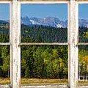 Colorado Indian Peaks Autumn Rustic Window View Print by James BO  Insogna