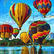 Colorado Springs Hot Air Balloons Print by Nikki Marie Smith