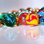 Colorful Marbles Print by Carlos Caetano