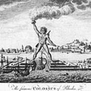 Colossus Of Rhodes Print by Granger