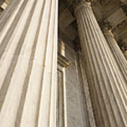 Columns Of The Supreme Court Print by Roberto Westbrook