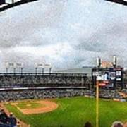 Comerica Park Home Of The Detroit Tigers Print by Michelle Calkins