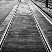 Completed Tram Rails On Princes Street Edinburgh Scotland Uk United Kingdom Print by Joe Fox