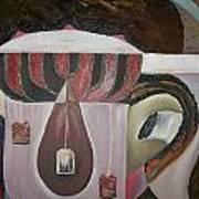 Components Of Tea Print by Nada Al-Ghussain