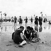 Coney Island Beach Goers - C 1906 Print by International  Images