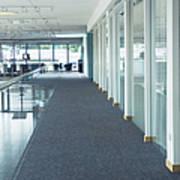Corridor In A Modern Office Print by Iain Sarjeant