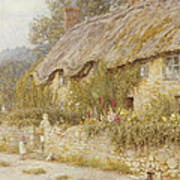 Cottage Near Wells Somerset Print by Helen Allingham